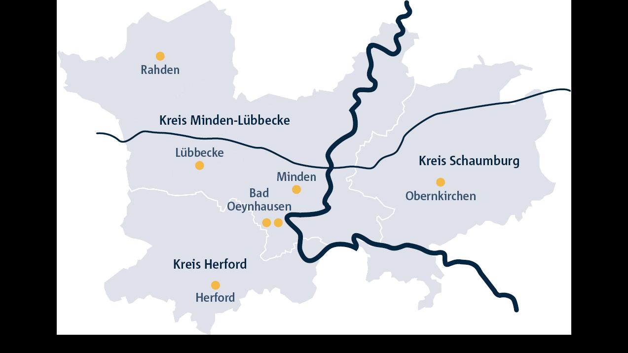 Karte mit Laborstandorten